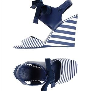 Tory Burch Martime Lace Up Wedge